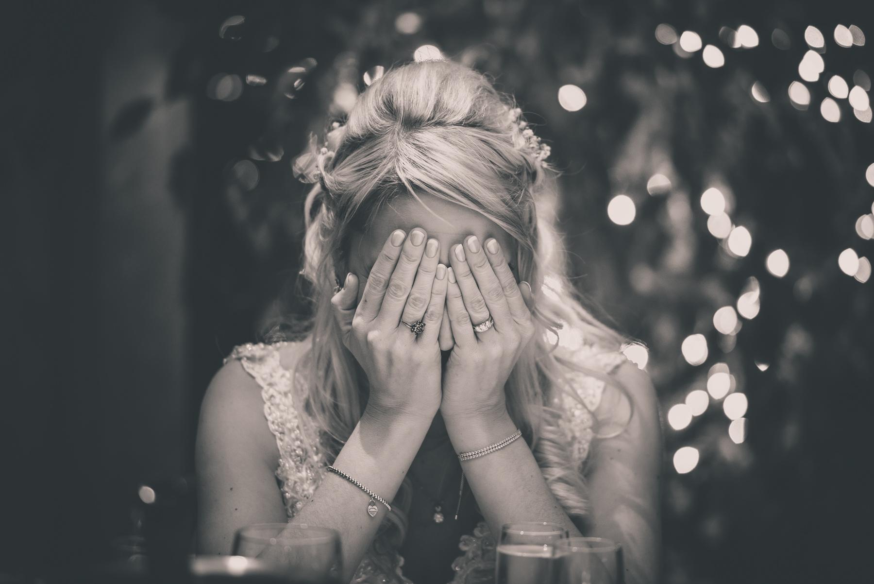 Embarrassed Bride at Wedding